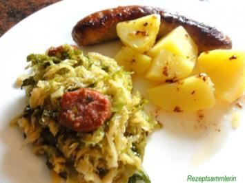 Gemüse:   WIRSING, meine pikante Variante - Rezept