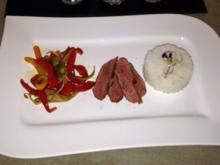 Asia-Ente mit Wokgemüse und Reis - Rezept