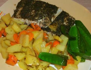 Seelachs Filet mit Rosmarin Kartoffeln - Rezept