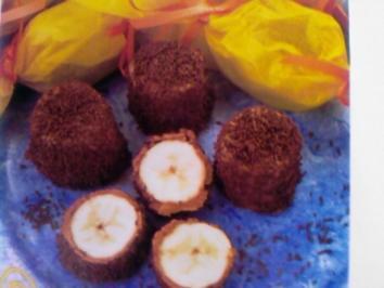 Banane im Schokomantel - Rezept