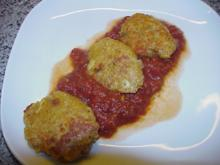 Linsen-Frikadellen in Tomatensoße - Rezept