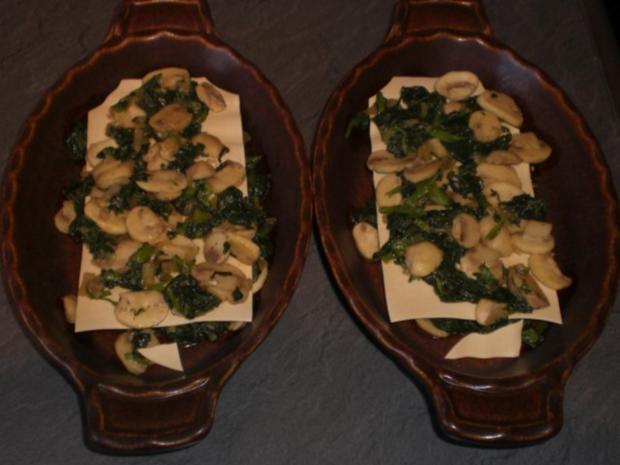 Champignon-Lasagne   für 2 Personen - Rezept - Bild Nr. 11