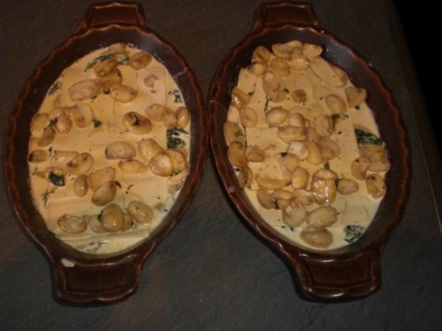Champignon-Lasagne   für 2 Personen - Rezept - Bild Nr. 12
