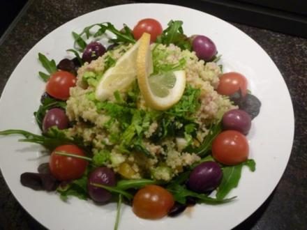 Couscous - Avocado Salat mit Anhang.... - Rezept