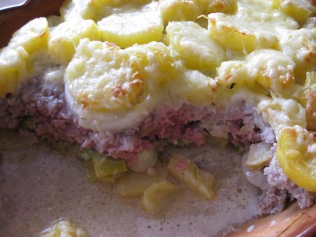 Kartoffel-Lauchauflauf mit Hackfleisch - Rezept - Bild Nr. 2