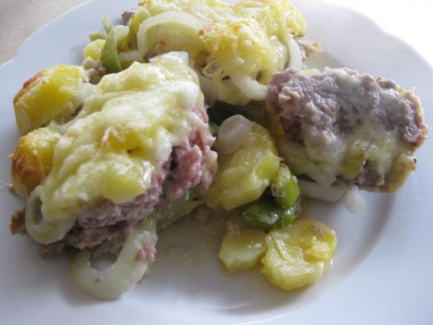 Kartoffel-Lauchauflauf mit Hackfleisch - Rezept - Bild Nr. 3