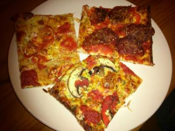 Rezept: LOW CARB  Pizza-Drio