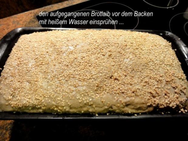 Brot:   ROGGEN-KÖRNER-BROT mit Sesamkruste - Rezept - Bild Nr. 7
