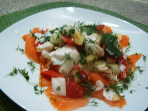 Rübchen-Gurkensalat mit Lachs - Rezept - Bild Nr. 10