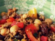 Orientalische Hackfleisch-Kichererbsen-Pfanne mit Rosinen - Rezept