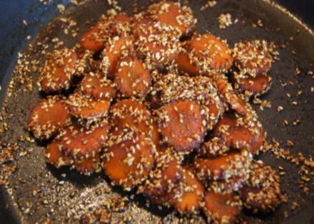 Asiatische Möhrenblüten - Rezept