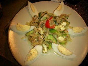 LOW CARB- Thunfisch-Gemüse-Salat - Rezept
