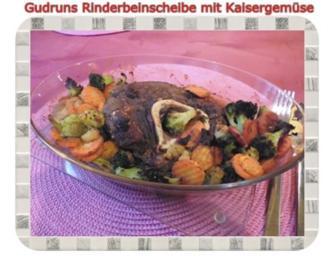 Fleisch: Rinderbeinscheibe mit Kaisergemüse - Rezept
