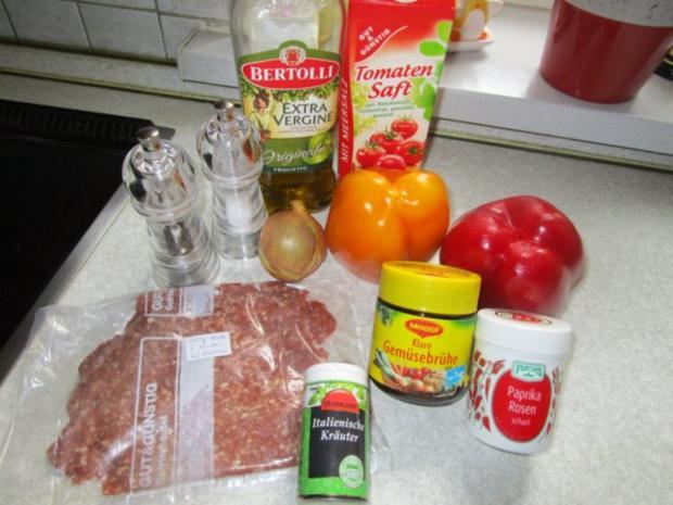 Paprika-Suppe mit Hackbällchen - Rezept - Bild Nr. 2