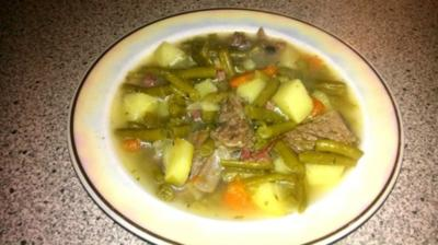 grüne Bohnensuppe (wie bei Muttern) - Rezept