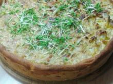 Zwiebel-Lauch-Kuchen - Rezept