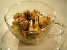 Käsesalat mit Essiggurken und Kapern garantiert ohne Majo - Rezept