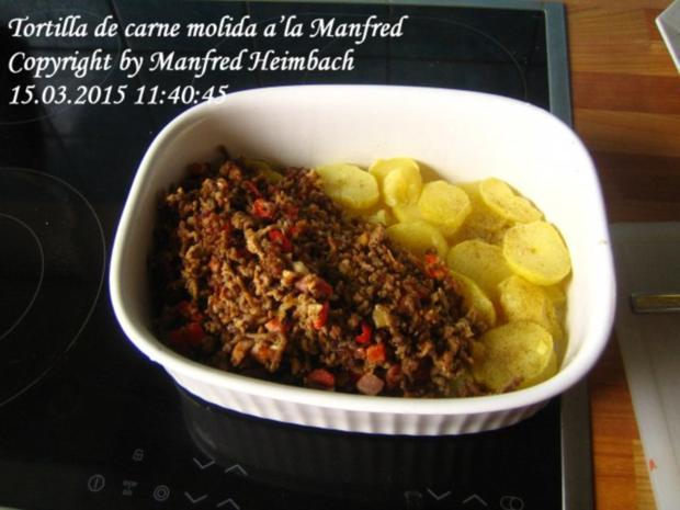Spanisches – Tortilla de carne molida a'la Manfred - Rezept - Bild Nr. 9