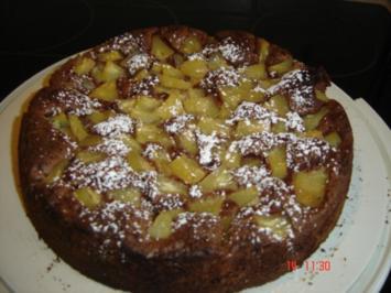 Schokoladenkuchen mit Ananas - Rezept