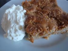 Apfel-Zimt-Blechkuchen mit Krokant - Rezept