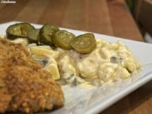 Joghurt-Kartoffelsalat mit Wiener Schnitzel - Rezept