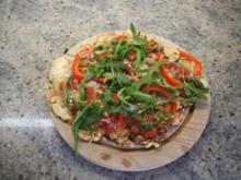 Pfannen-Pizza vegetarische Variante - Low Carb - Rezept