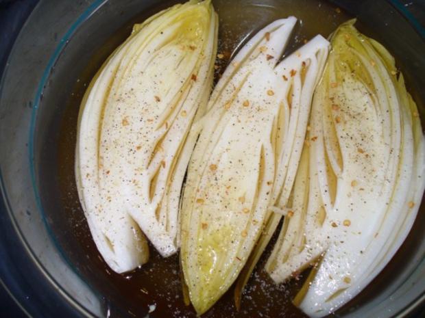 Schweinefilet mit pikant mariniertem Chicorèe - Rezept - Bild Nr. 5