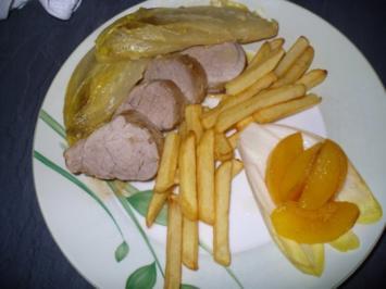 Rezept: Schweinefilet mit pikant mariniertem Chicorèe