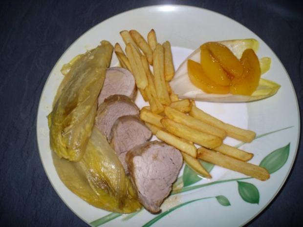 Schweinefilet mit pikant mariniertem Chicorèe - Rezept - Bild Nr. 12
