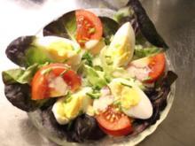 Roter Kopfsalat an französischer Sauce für Gäste - Rezept