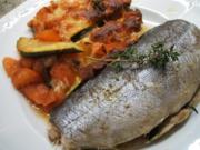 Fisch: Forelle aus dem Bratschlauch mit Gemüselasagne - Rezept