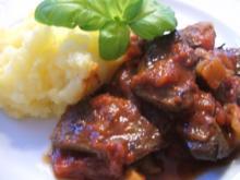 Innereien: Rinderleber in Tomaten - Rezept