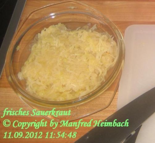 Gemüse – Manfred's geschmortes Sauerkraut - Rezept - Bild Nr. 2