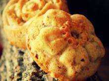 Süße Apfel-Buttermilch-Muffins mit gesalzenen Pekannüssen - Rezept