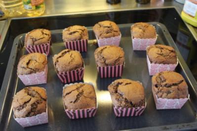 Schokomuffins mit Sauerkirschen - Rezept
