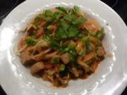 Tofu-Gemüse Pfanne an Panang Curry - Rezept