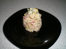 Schichtsalat mit Hühnerfleisch - Rezept