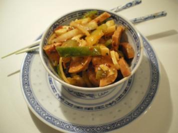 Chinesischer Wurst-Käse-Salat - Rezept
