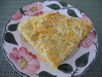 Kartoffel - Karotten - Sauerkraut - Kuchen aus der Pfanne - Rezept