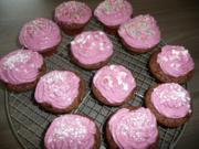 Schoko - Cupcakes mit Johannis - + Brombeere - Quark - Topping ! - Rezept