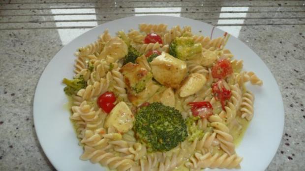 Hähnchen  in Curryrahmsoße - Rezept