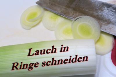 Lauch-Käse-Soße - Rezept