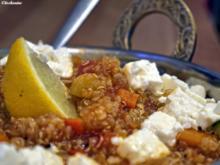 Gemüse-Quinoa-Pfanne mit Feta - Rezept
