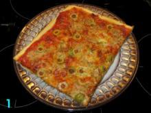 Schnelle Pizza Thunfisch im E-Herd - Rezept