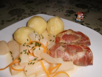 Schwarzwurzeln in Orangensahne>> - Rezept