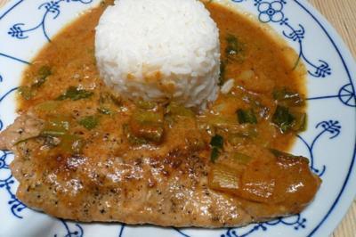 Putensteak mit Curry- Honig- Soße - Rezept