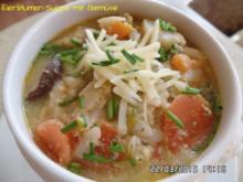 Eierblumen-Suppe mit Gemüse - Rezept