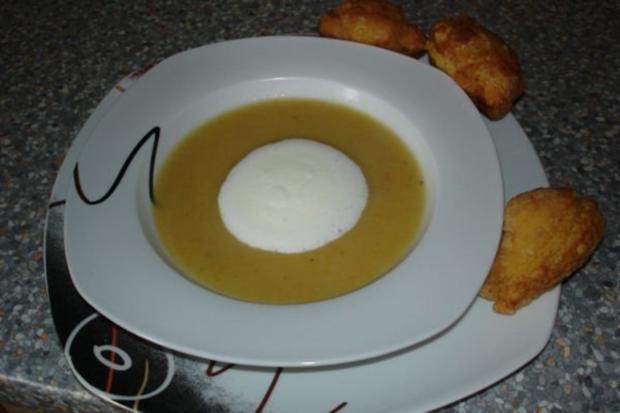Kartoffelsuppe mit Brandteig-Nocken - Rezept