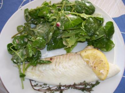 barbue au four/ Glattbutt im Ofen - Rezept