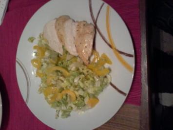 Hähnchenbrustfilets an endivien Paprika Salat - Rezept